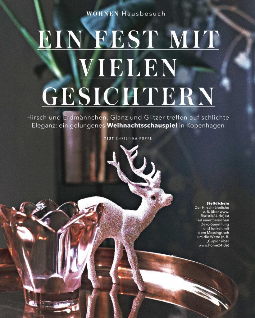 Jul hos Pernille Brandt, vist i det tyske magasin Brigitte